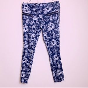 Topshop skinny patterned jeans